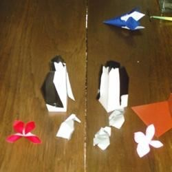 Origami Penguins that I've made