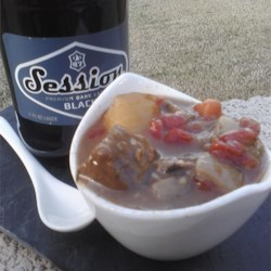 Irish Canadian Beef Stew Recipe - A hearty beef stew with potatoes, turnip, and barley has the extra flavor option of Irish stout beer.