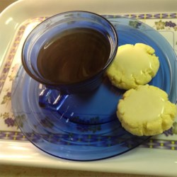 Tea Cakes II Recipe - These tea cake cookies are great for letting children frost them because they don't crumble easily.