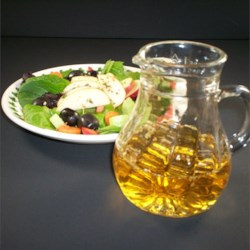 Oil-Free Apple Herb Salad Dressing Recipe - Apple juice, vinegar, and a dash of herbs make an easy oil-free salad dressing to go with any green salad.