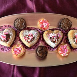 Chocolate Brownie Coconut cookie Hearts