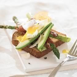 Spring Asparagus Ham and Egg Sandwich