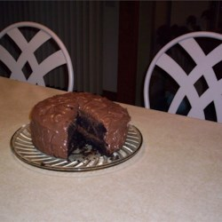 Chocolate Mousse Cake IV Recipe - Chocolate cake with chocolate mousse filling. Everyone will think you bought it at a bakery!