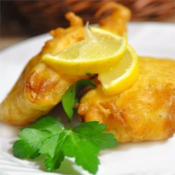 Beer Batter for Fish Recipe - Basic beer batter, good for almost any white fleshed fish.