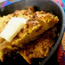 Crackling Cornbread Recipe - Fried pork cracklings add a savory flavor to this spicy cornbread.