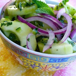 Cucumber Chili Salad Recipe - Take the idea of a classic Cuban cocktail, add cucumber, and make a mojito salad with this recipe.