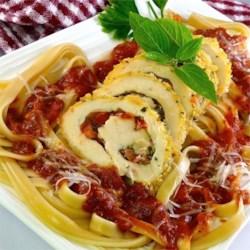 Tomato Stuffed Chicken Rolls