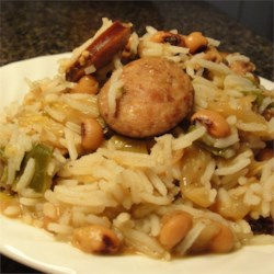 New Years Black-Eyed Peas Recipe - Are you in need of good luck but not real fond of black eye peas? Here is a meal out of peas that will please all. For wealth in the coming year, add cabbage too.