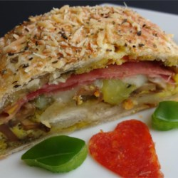 Meat and Veggie Stromboli