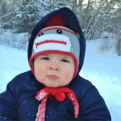 Grandbaby Andrew and Minnesota Snow