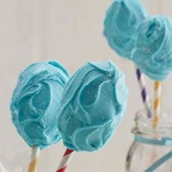 Cotton Candy Cake Pops Recipe - A new spin on a popular dessert--these cotton candy frosting cake pops are bunches of bite-sized fun.