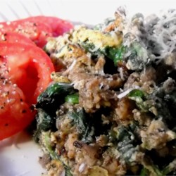 Joe's Special Scramble Recipe - A delicious, beefy scramble great for any meal of the day! This is a Seattle favorite!