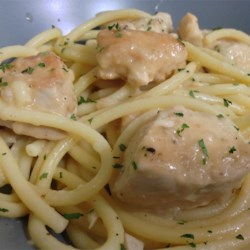 Garlic Wine Chicken Recipe - A thin chicken breast cutlet is seared and then cooked in a lemony white wine sauce that's perfect over capellini pasta or rice.