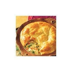 Campbell's Kitchen Easy Turkey Pot Pie Recipe - Roast poultry and vegetables are paired in a creamy sauce and topped with a golden biscuit crust.