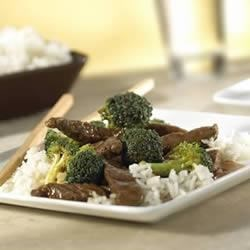 Campbell's Kitchen Beef Teriyaki Recipe - Simply delicious stir-fries start with Swanson(R) Broth, such as this classic featuring beef strips and crisp-tender broccoli in a soy and garlic-flavored sauce.