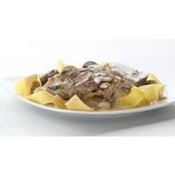 Creamy PHILLY Beef Stroganoff Recipe - Update your family's beef stroganoff with lean flank steak, fresh herbs and a creamy, cheesy sauce.