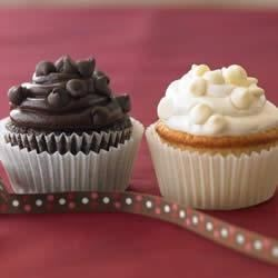 Ghirardelli(R) Dark Chocolate Cupcakes Recipe - Indulge your chocolate craving with these dark chocolate mocha cupcakes topped with rich and creamy semi-sweet chocolate frosting.