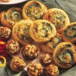 Spinach-Cheese Swirls