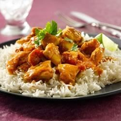 Heinz(R) Butter Chicken Recipe - In this classic Indian-inspired recipe, tender chunks of chicken simmer in a creamy, tangy tomato sauce; serve over fragrant basmati rice and top with fresh coriander.