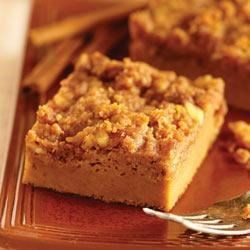 Streusel Topped Pumpkin Pie by EAGLE BRAND(R) Recipe - This isn't your average pumpkin pie; it's topped with a cinnamon-spiced walnut streusel.