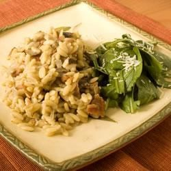 Orzo with Bacon, Mushrooms and Italian Seasonings