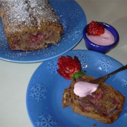 Strawberry Nut Bread Recipe - Fresh strawberries and nuts are doused with loads of cinnamon in this fruity quick bread.