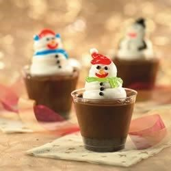 Snowman Cups Recipe - These cute Snowman Cups are fun to make (and eat!) with kids. With chocolate pudding, OREO Cookies and whipped topping, they're a treat for all ages.