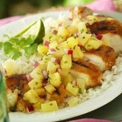 Ginger Glazed Chicken with Pineapple Salsa