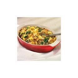 Campbell's Kitchen Turkey and Stuffing Casserole Recipe - Here's a family-friendly dish fits right into your busy schedule.  It features convenience products like cream of mushroom soup, frozen vegetables and stuffing mix that combine with cooked turkey or chicken to make a mouthwatering casserole that's ready in less than 45 minutes.