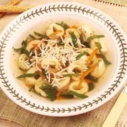 Herb Chicken Tortellini Soup