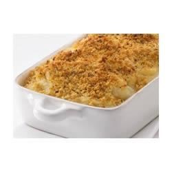 Mashed Potato Gratin Recipe - Everyone seems to have a Potato Gratin recipe in their family, and this is my family's, with the hallmark Italian flavors of garlic and Parmesan cheese.