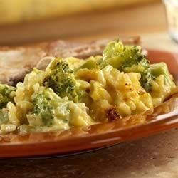Broccoli Rice Casserole Recipe - What makes this quick-cooking side dish really tasty is coating the broccoli and rice in a creamy cheese sauce . . . yum!