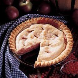Blushing Apple Cream Pie