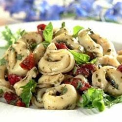 Tortellini with Pesto and Sun-dried Tomatoes