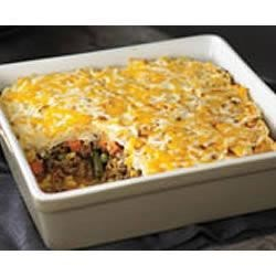 Easy Shepherd's Pie Recipe - This easy-to-make winning update of a favourite comfort food is a hearty main dish chock-full of colourful vegetables. Your family will want it every night of the week!