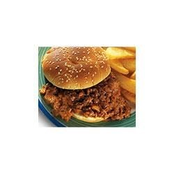 Back to School Sloppy Joes Recipe - This family-friendly dish features ground beef mixed with three on-hand ingredients to create a delicious Sloppy Joe filling to be served on rolls.