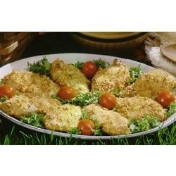 Marzetti(R) Honey Dijon Chicken Recipe - A great go-to chicken recipe. Just coat chicken in Marzetti(R) Honey Dijon Dressing, then dip in a mixture of bread crumbs and Parmesan cheese, bake and enjoy.