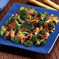 Bacon Broccoli & Raisin Salad