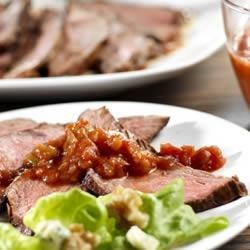 Pace(R) Sirloin Steak Ole Recipe - Lean, succulent beef steak grills to tenderness when basted and served with Pace(R) Picante Sauce.