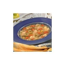 Country Chicken Vegetable Soup Recipe - This wonderfully satisfying soup features Swanson(R) Chicken Broth, mixed vegetables, long grain rice, parsley and Swanson(R) Premium Chunk Chicken.