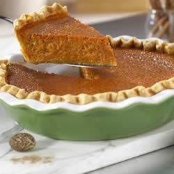 Sweet Potato Pie Recipe - Sweet potatoes, brown sugar, and spices are combined with an unexpected ingredient -- Campbell's(R) Condensed Tomato Soup -- to make a delicious fall favorite with a twist.