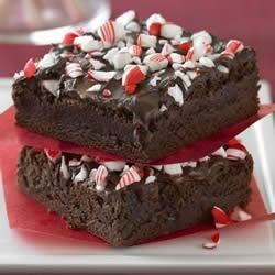Ghirardelli(R) Peppermint Brownies Recipe - These easy to prepare brownies are perfect for the season and are the perfect combination of rich chocolate and intense peppermint.