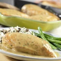 Creamy Chicken Dijon Recipe - Enjoy this French-inspired, creamy chicken dish that cooks up in just 20 minutes and features herb and Dijon-style mustard flavor accents.
