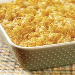 Jill's Hash Brown Casserole Recipe - Perfect as a side dish for brunch or dinner, this creamy and crunchy hash brown casserole always fits the bill.