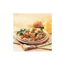 Italiano Chicken and Pasta Medley Recipe - Corkscrew pasta simmered in broth, diced tomatoes and Italian herbs becomes a star when joined with sauteed chicken and garlic, tender vegetables and Parmesan cheese.
