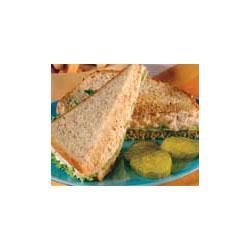 Chicken Salad Recipe - Perfectly seasoned chicken salad with the added crunch of celery and onion makes classic sandwiches to enjoy for a simple supper, lunch or card party.