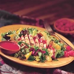 Grilled Chicken Salad with Fresh Raspberry Dressing