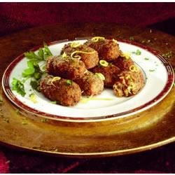 Jimmy Dean Sausage Couscous Croquettes Recipe - Seasoned with cumin, cayenne pepper, and parsley, these couscous croquettes are fried until crisp to make irrisistable hot appetizers.