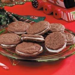 Chocolate-Mint Creme Cookies