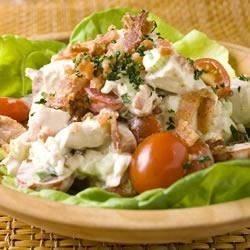 Chicken Salad with Bacon and Tomatoes